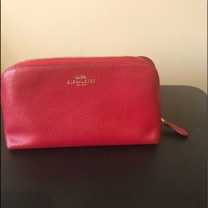 Raving Red Coach Small cosmetic bag